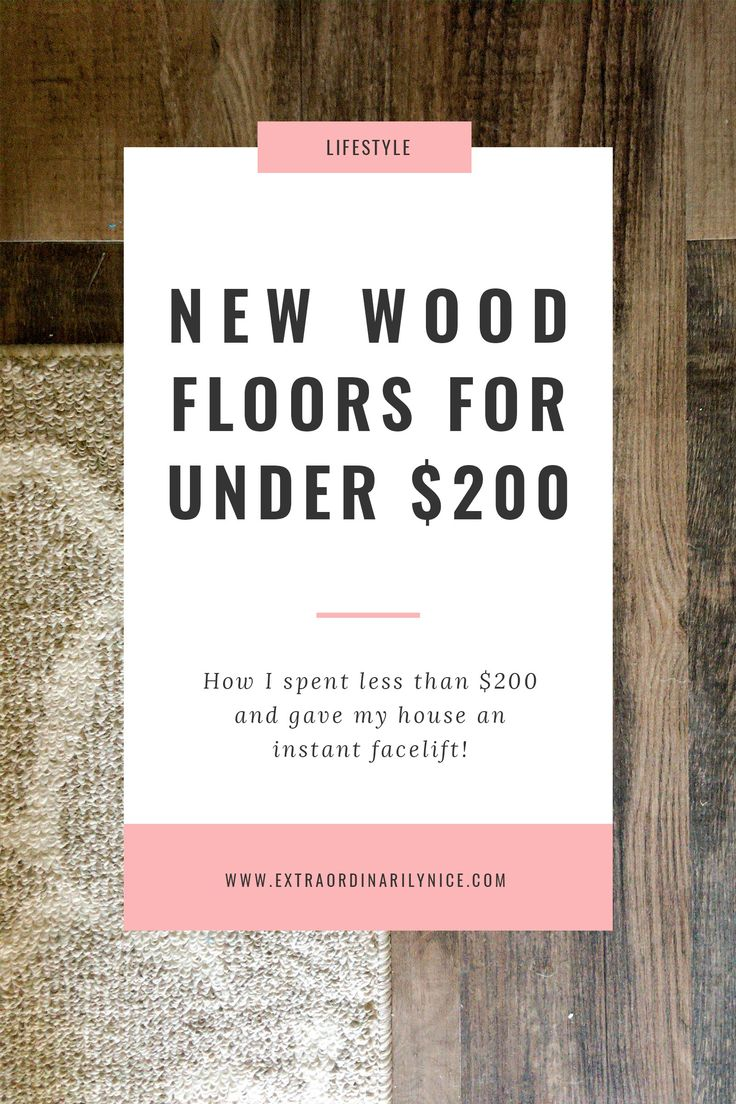New wood flooring under $200! DIY!