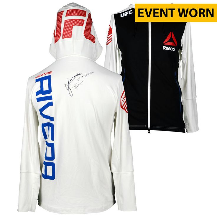 Jimmie Rivera Ultimate Fighting Championship Fanatics Authentic Autographed UFC on FOX: Johnson vs. Bader Event-Worn Walkout Hoodie - Defeated Iuri Alcantara via Unanimous Decision
