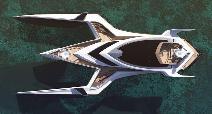 This futuristic Trimaran Yacht design looks incredible! - Marine News - BoatShowAvenue.com