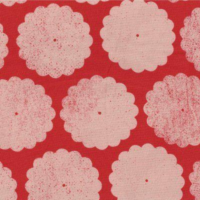 Umbrella+Prints+Roundflowers+in+Baby+Momo+on+Kimono+Red