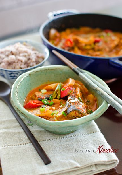 Kimchi stew is one of the most popular Korean dish. Adding a canned Mackerel pike in a kimchi stew will bring an incredible flavor to the most ordinary kimchi stew we know of.