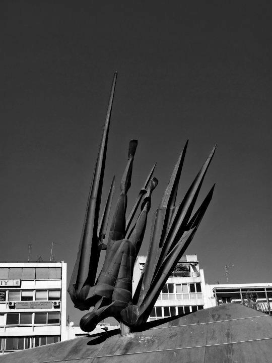 Evangelos Moustakas: Monument of Fallen Aviators, Karaiskaki Sq., Athens
