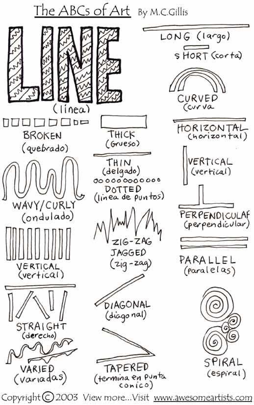 teach art types of line | Runde's Room: Monday Art Feature