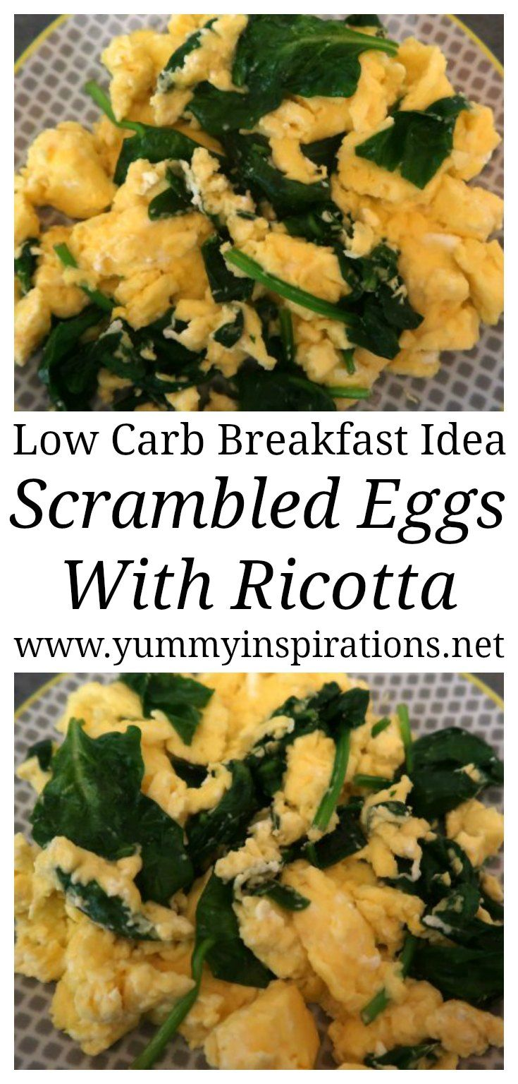 Scrambled Eggs With Ricotta And Spinach