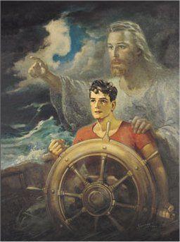 ❤Jesus never leaves us during the storm ~ He will never leave us nor forsake us ~ Artist Warner Sallman