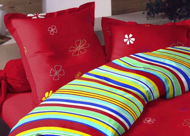 Pościel satynowa Valentini Bianco VENICE RED, 160x200 + 2x 70x80 cm oraz 220x200 + 2x70x80 cm, 100% bawełna.
