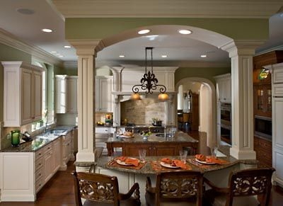 Maple Cabinets Painted Cream With Amber Glaze And