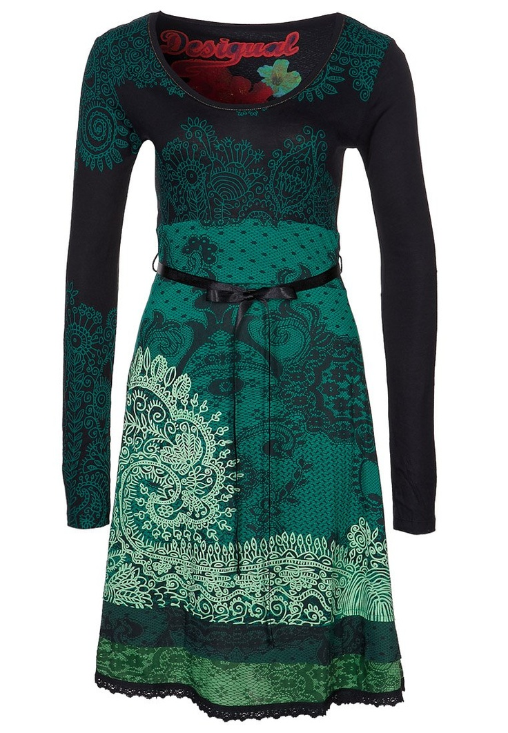 Desigual jersey dress  should leave this board due to knee length & otherwise classical proportions, but i love the color!!