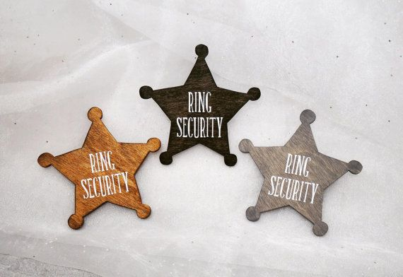 Ring Security Ring Bearer Badge Ring by CraftyWitchesDecor on Etsy