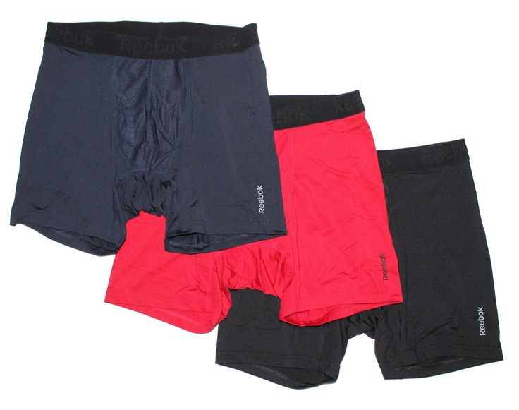 Reebok Men's Breathable Performance Boxer Briefs - 3 Pack