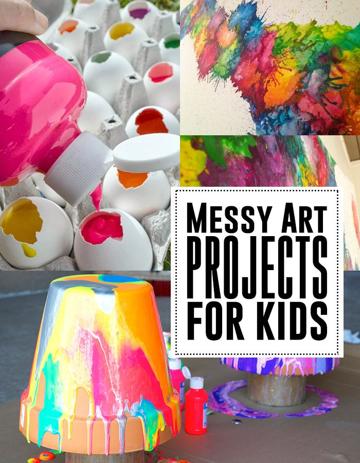Great messy art projects for kids! These are fun!