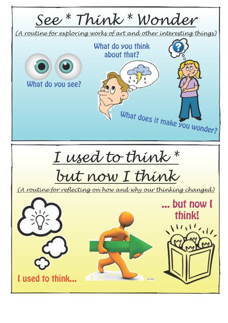 Made these Routines for INTRODUCING & EXPLORING IDEAS from the book Making Thinking Visible by Ritchhart, Morrison & Church (Spring 2011)