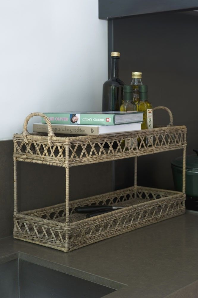 Riviera Maison RUSTIC RATTAN DOUBLE SERVINGTRAY SMALL
