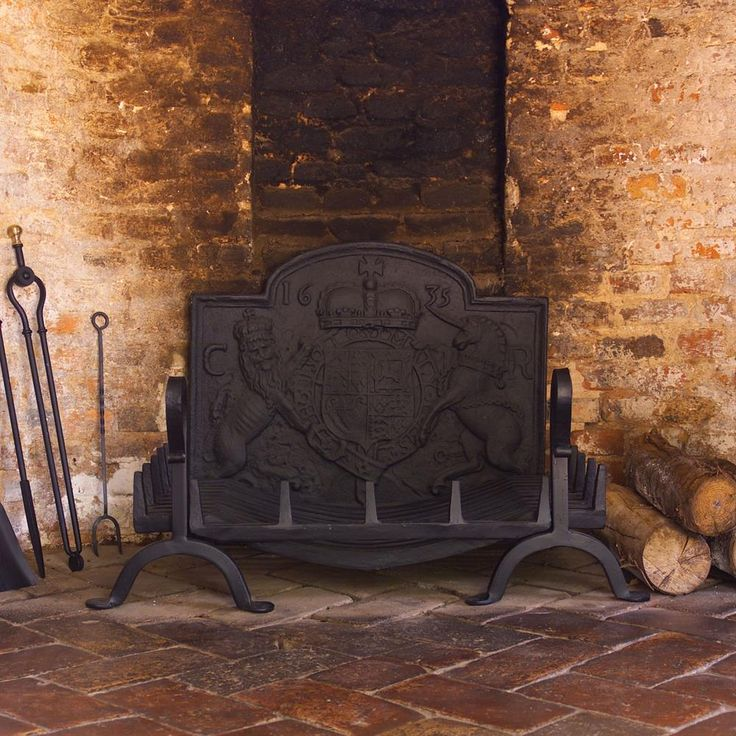 Our Berwick #fire dogs and swan necked #basket would be an #elegant addition to any #fireplace.