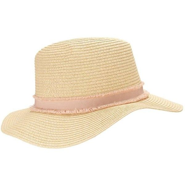 Miss Selfridge Straw Fedora Hat ($40) ❤ liked on Polyvore featuring accessories, hats, nude, straw hat, straw fedora hat, straw fedoras, cocktail hat and holiday hats