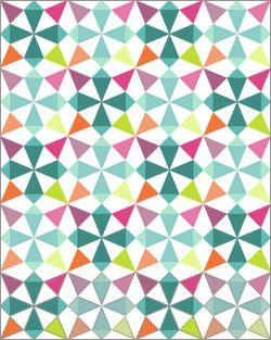 Let's Talk Quilt Top Layouts – Fresh Lemons Modern Quilts.  Blocks set on point