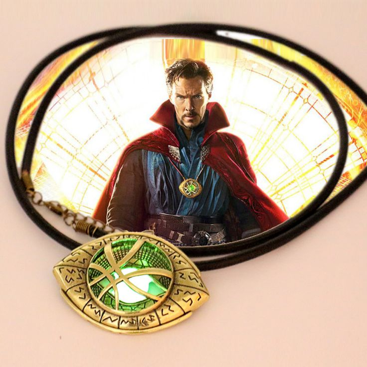 Newest Doctor Strange Necklace Glow in Dark Eye Shape Antique Bronze 6cm*4.3cmPendant with Leather Cord Movie Cosplay Jewelry on Aliexpress.com | Alibaba Group
