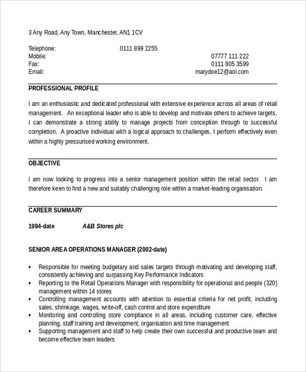 sample director operations resume free documents download manager template