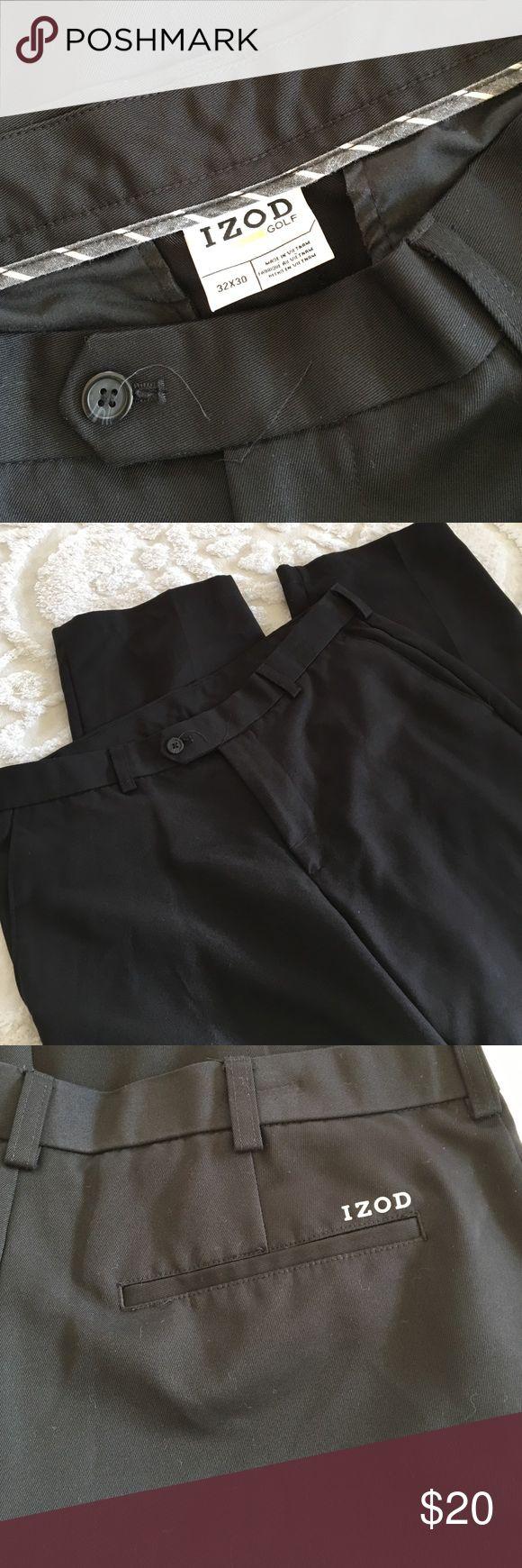 Brand New Men's Izod Golf Pants 32X30 Black lightweight men's golf pants Izod Golf Pants Dress