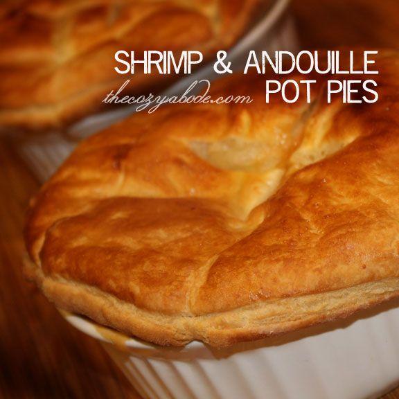 shrimp & andouille pot pies recipe from thecozyabode.com ...