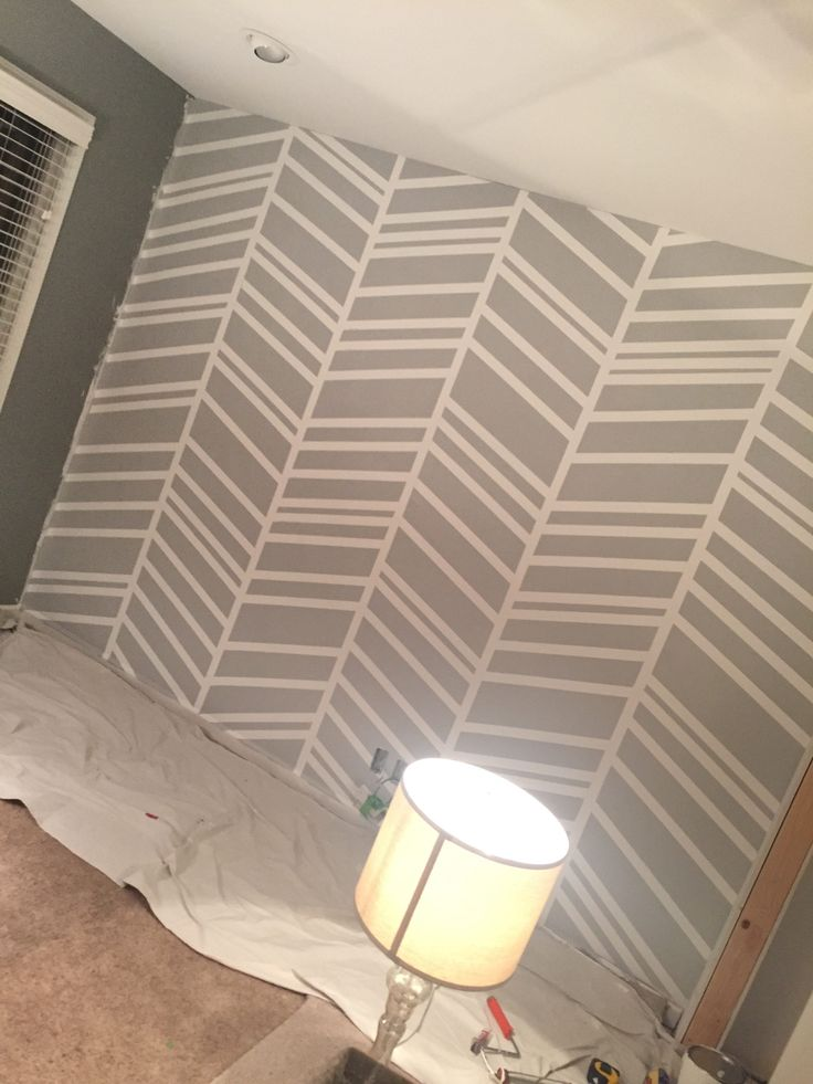 DIY tutorial of how to paint perfect stripes on a wall ...