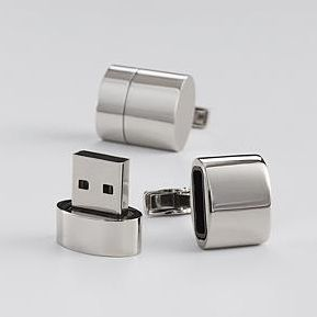 Father's Day gift: Cufflinks that have a flash drive as well as a WIFI hotspot. Crazy, right?