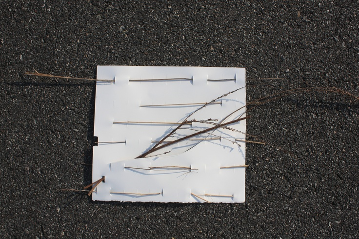 site map collage constructed from found materials