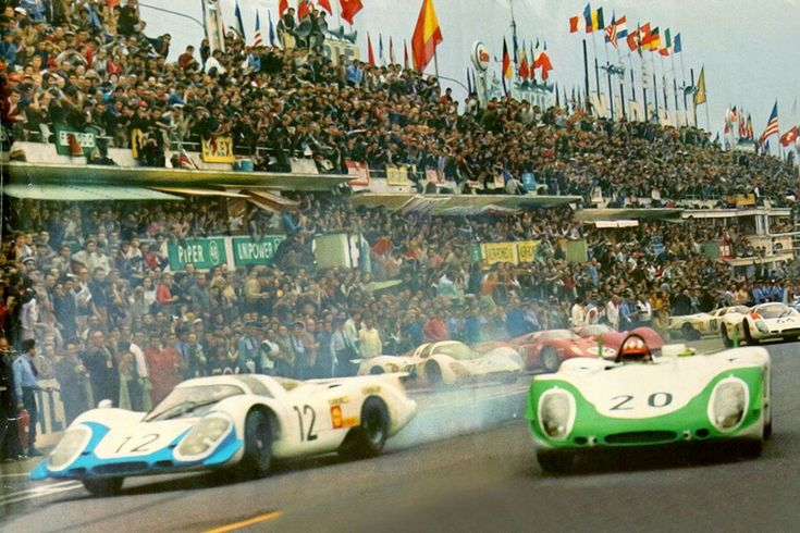 "Le Mans 1969 - Jo Siffert - super start !!! Porsche 908/02 ""flunder"" #20"