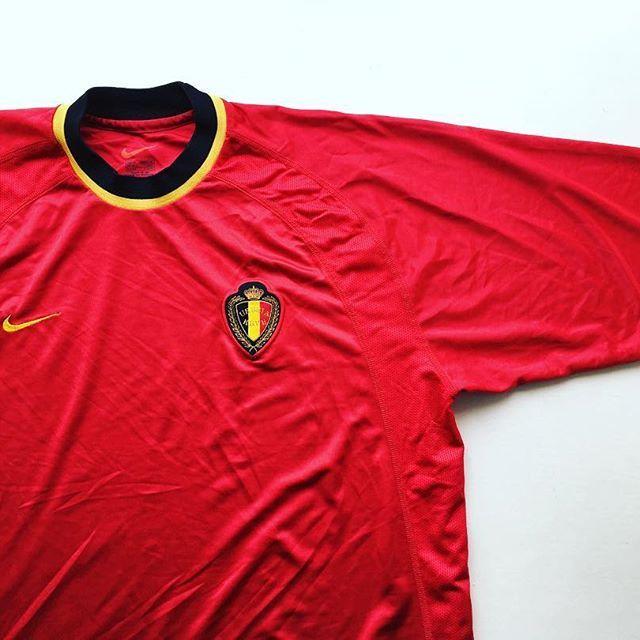 Belgium Home Shirt 2000 02 Link In Bio Belgium Belgiumnationalteam Nike Nikefootball F Retro Football Shirts Vintage Football Shirts Retro Football