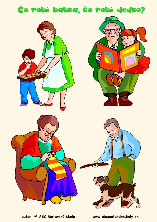 Ja a moja rodina - Čo robí babka, čo robí dedko? Rozprávame a dopĺňame slovnú zásobu