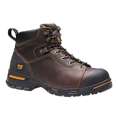 Timberland PRO men's work boot 6 in endurance puncture resistant steel toe  with anti fatigue tech