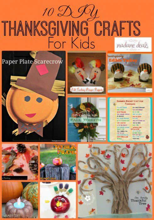 Celebrate the holidays with 10 DIY Thanksgiving Crafts for Kids that you can do as a family.