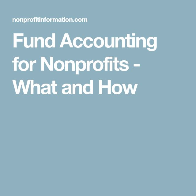 Fund Accounting for Nonprofits - What and How