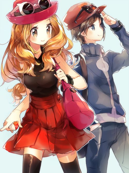 Pokemon X and Y Serena and ash!!!!!!!!!