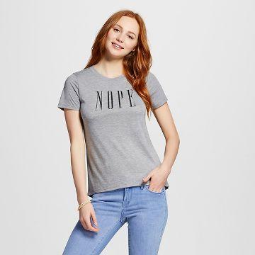 Women's NOPE Graphic Tee Heather Grey - Modern Lux already viewed