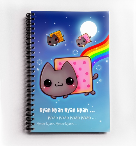 Kawaii Nyan cat - Notebook - NB4 | ChibiBunny - Paper/Books on ArtFire - Neeed ♥ - Shop is all you Neeed !