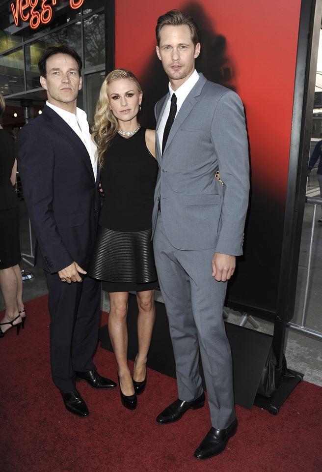 Alexander Skarsgard, Stephan Moyer, Anna paquin. Cast of true blood!!