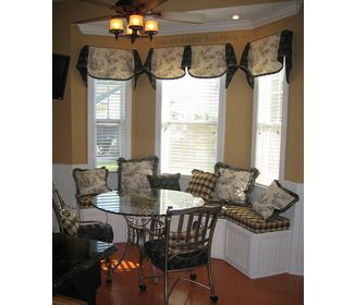 Image detail for -... Ideas > Kitchen Bay Windows – Toile Breakfast Area Window Seat