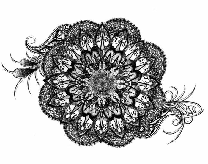 1001 Inspirations Amusantes Pour Que Faire Quand On S Ennui Mandala A Imprimer Quand On S Ennuie Mandala Blanc