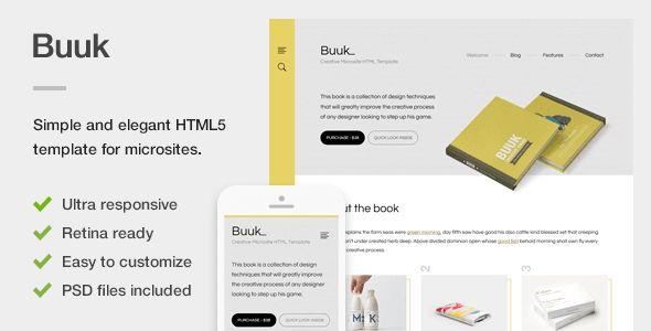 Buuk - A Unique Microsite & Landing HTML5 Template (Marketing) - http://buyonlinewebsite.com/buuk-a-unique-microsite-landing-html5-template-marketing/