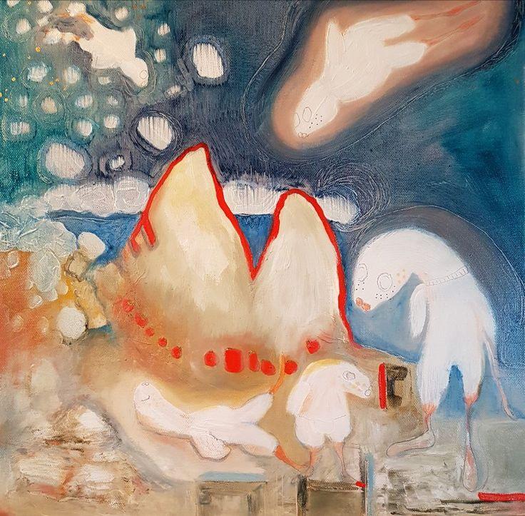 Oilpainting by Charlotte Wiktorsdotter  40x40 cm