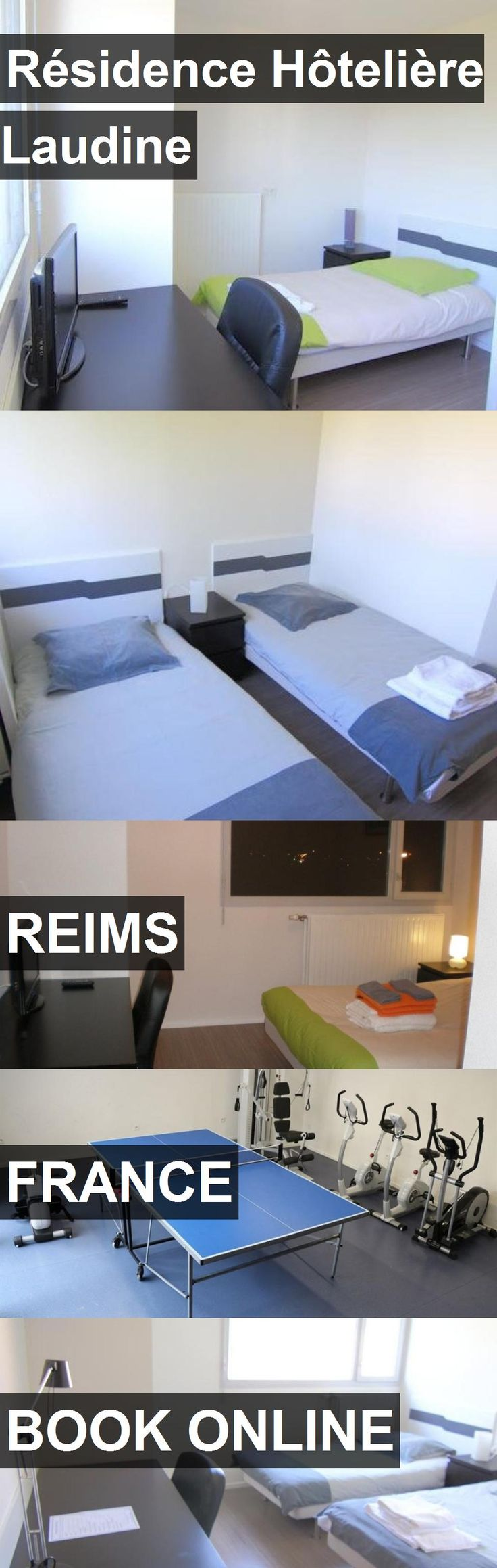 Hotel Résidence Hôtelière Laudine in Reims, France. For more information, photos, reviews and best prices please follow the link. #France #Reims #travel #vacation #hotel