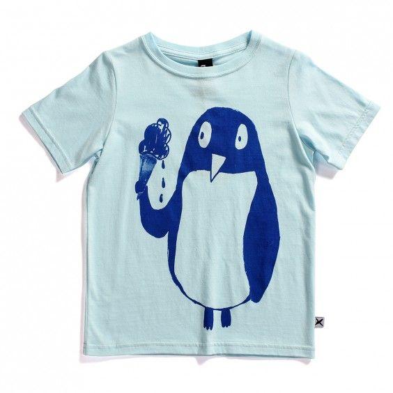 Minti Tee Penguin - Light Blue