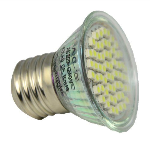 THG Dimmbare GU10 Cool White 6000K Birne der Leistungs-60PCS 3528 SMD Lampe Licht Beleuchtung No Need Dimmer (Packung mit 10) - http://led-beleuchtung-lampen.de/thg-dimmbare-gu10-cool-white-6000k-birne-der-leistungs-60pcs-3528-smd-lampe-licht-beleuchtung-no-need-dimmer-packung-mit-10/ #Aquariumbeleuchtung