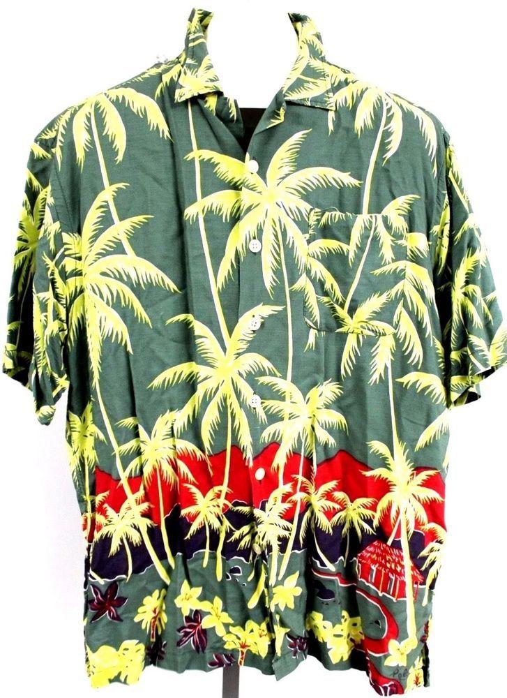 Mens Vintage Green POLO SPORT Ralph Lauren Hawaiian RAYON Short Sleeve Shirt L  | Clothing, Shoes & Accessories, Men's Clothing, Casual Shirts | eBay!