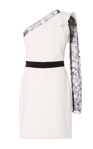 Asymmetrical One Sleeve Mini Dress by ELIE SAAB for Preorder on Moda Operandi