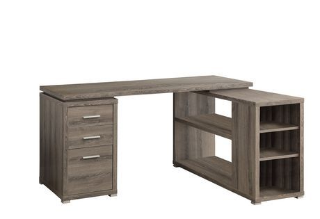 Dark Taupe Reclaimed-Look Left / Right Facing Corner Desk | Walmart.ca