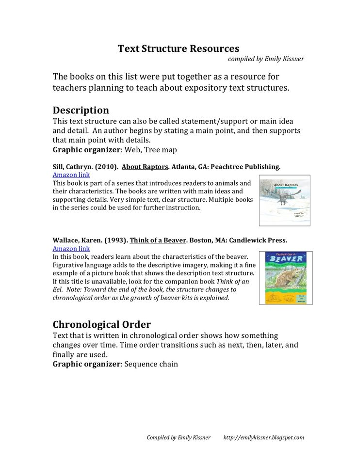 text structure picture books: Awesome resource for teaching expository text structure