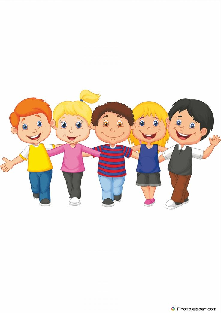 drawing of children happy kid walking together kids cartoon kids clip art 6677