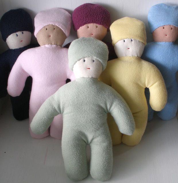 cloth dolls - organic bamboo-cotton fleece / plain cotton / polar fleece